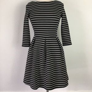 Banana Republic Black & White fit & flare dress 2